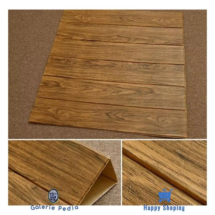 Jual NEW Foam 3D Brick Wood Korea