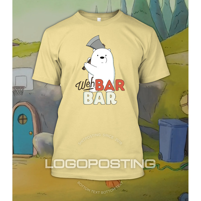 Jual Weh Barbar Kaos Tshirt Logoposting We Bare Bears Ice Bear