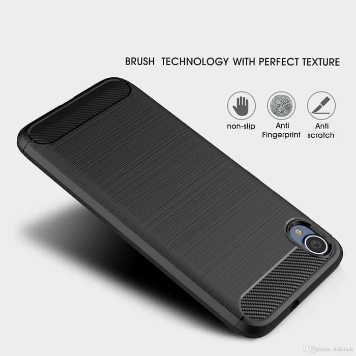 Foto Produk Casing Softcase Ipaky Carbon Asus Zenfone Live L1 ZA550KL Case - Hitam dari Indo Smart Acc
