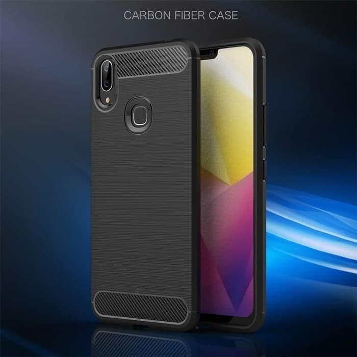 Foto Produk Casing Softcase Ipaky Carbon Vivo Y91 / Y95 Case - Hitam dari Indo Smart Acc