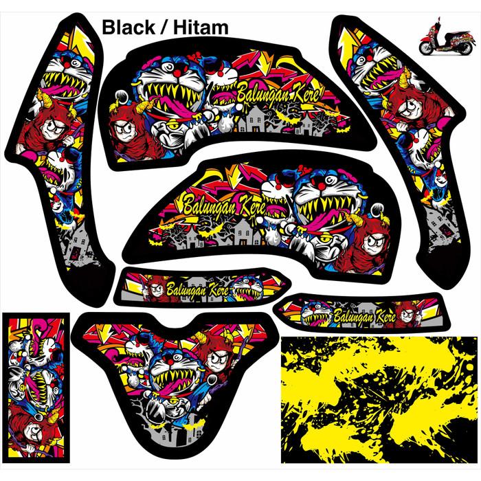 Jual Decal Stiker Full Body Motor Scoopy Doraemon Zombie Design Hitam Kab Kediri Gcskediri Tokopedia