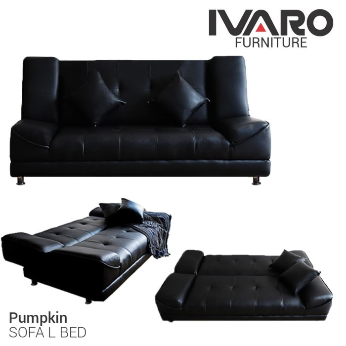 Foto Produk IVARO Sofa Bed Pumpkin Hitam dari Ivaro Furniture
