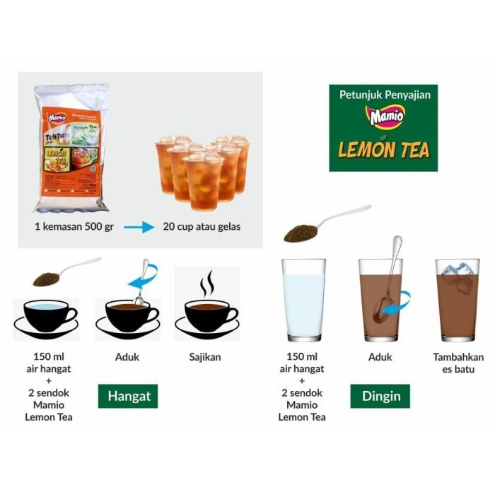 Foto Produk Lemon Tea Mamio 500 Gram Untuk Franchise dan Horeka Praktis dan Hemat dari CV. Herbal House Lestari