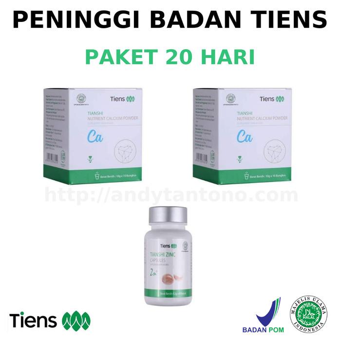 Foto Produk Paket 20 Hari Obat Peninggi Badan Tiens NHCP Zinc dari Matras Tianshi