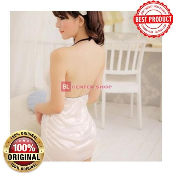 Foto Produk Lingerie Seksi Import Baju Tidur Bajutidur DressWhite Gstring Yila dari tika ayuningtiyas