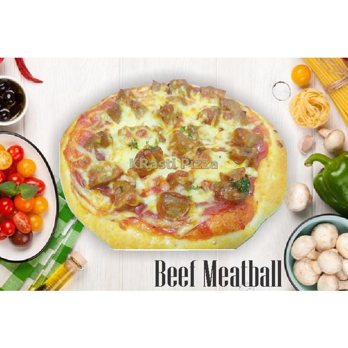 Jual Pizza Beef Meatball Kota Bekasi Krasti Pizza Tokopedia