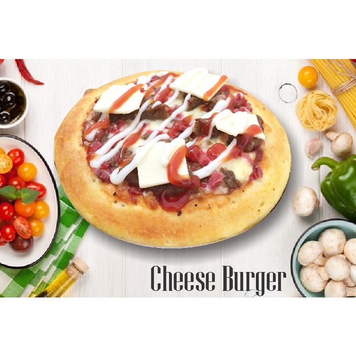 Jual Pizza Cheese Burger L Roti Bunga Kota Bekasi Krasti Pizza Tokopedia