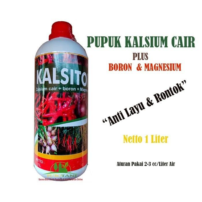 Foto Produk Pupuk Anti Layu Rontok Kalsium Cair Plus Boron Magnesium Kalsitor 1ltr dari Purotani