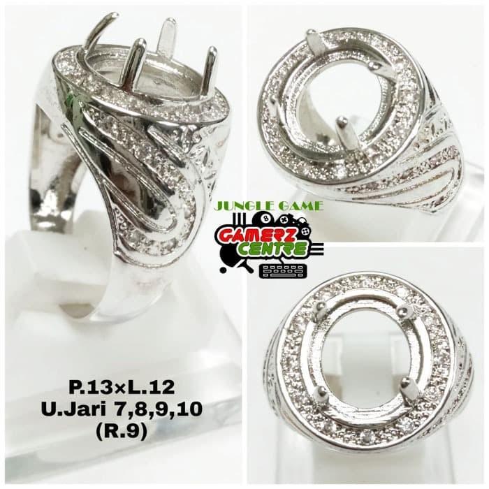 Jual Fashion Ring Kokot Ikat Batu Cincin Perak Pria Emban Cangkang