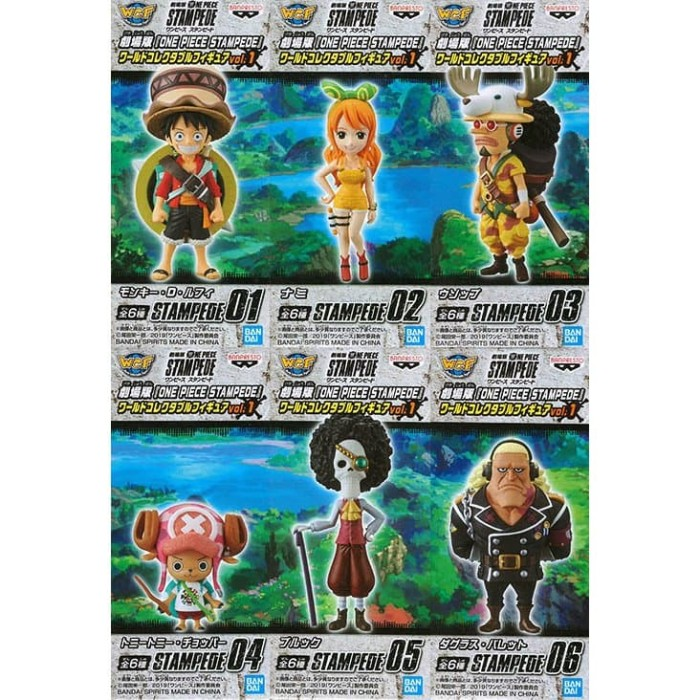 ONE PIECE WCF World Collectable MOVIE STAMPEDE vol.1 Full set