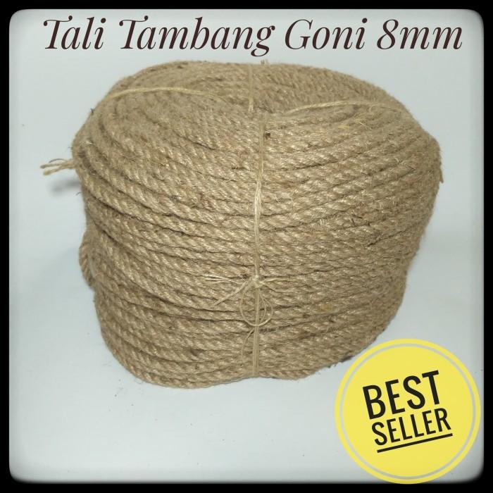 Foto Produk Tali Tambang Goni ukuran 8mm Satu Roll 20 meter dari kartibull shop