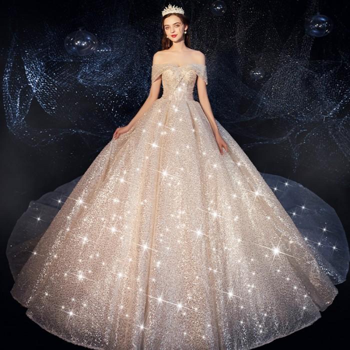 Jual Termurah Amazing Backless Princess Ball Gown Wedding Dress V Neck Kab Bandung Dido Storee Tokopedia
