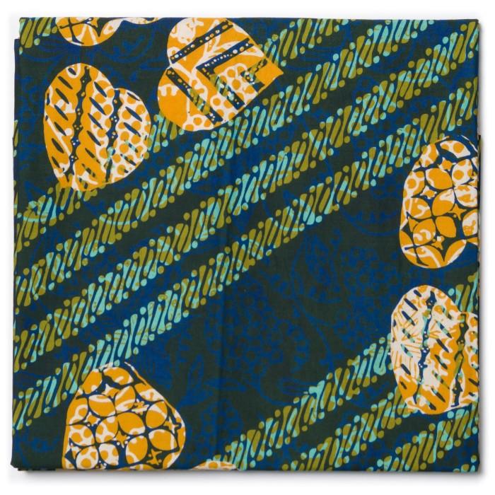 Foto Produk Kain Batik Cap Tasik Motif Parang Daun Hijau Kuning dari Kainusa