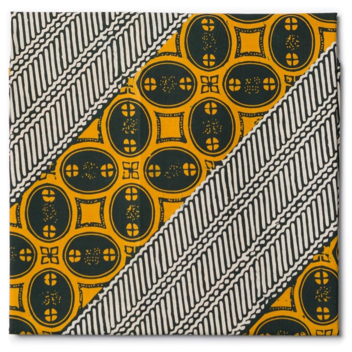 Foto Produk Kain Batik Cap Tasik Motif Lereng Kawung Hijau Kuning dari Kainusa