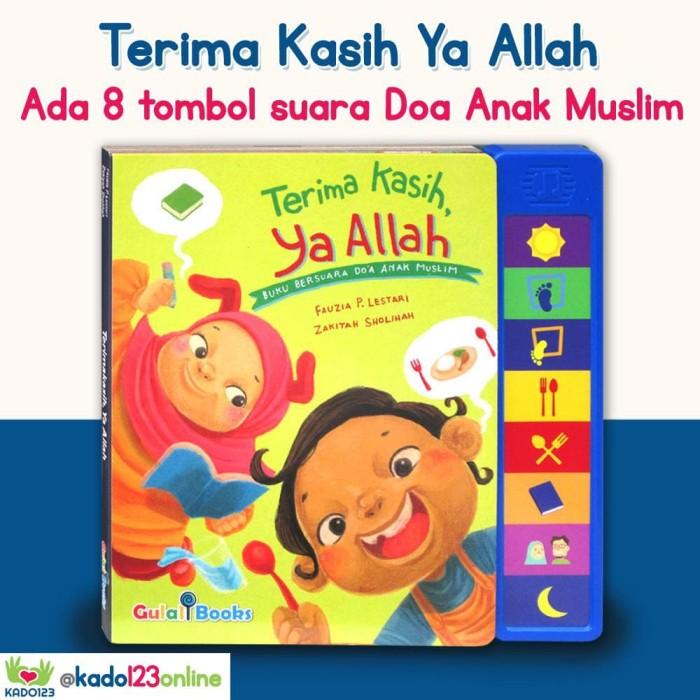 Foto Produk Terima Kasih, Ya Allah Sound Board Book (Buku Bersuara Do'a Anak dari kado123