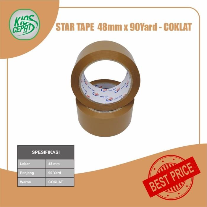 Foto Produk Lakban STAR TAPE 48mm x 90Yard - Coklat dari KiosCepat