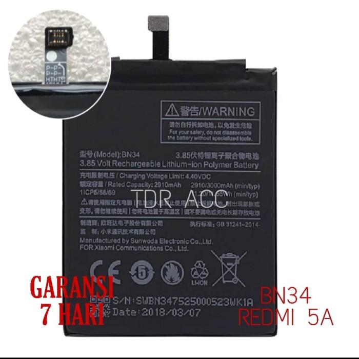 Foto Produk BATTERY BATERAI BATRAI XIAOMI ORIGINAL BN34 REDMI 5A dari Tdr Acc
