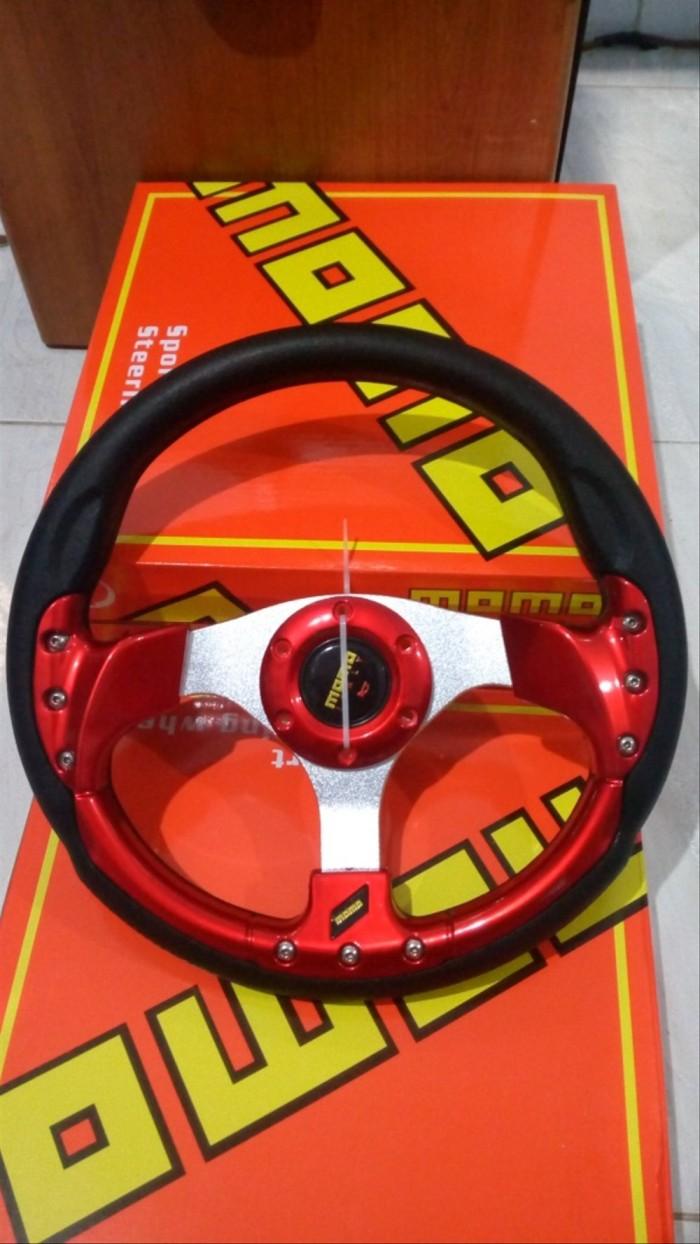 """Jual Stir Racing Mobil Momo 13"""" Merah Metalic Universal Jakarta Barat Wiwin4y4"""