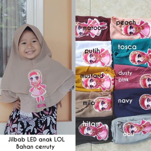 Foto Produk termurah Kerudung jilbab anak led nyala dua layer dari grosirbandung82