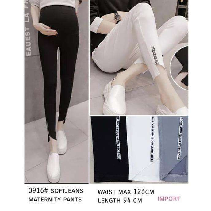 Jual Celana Legging Maternity Wanita Soft Jeans Untuk Ibu Hamil Jakarta Barat Mirabel Store Tokopedia