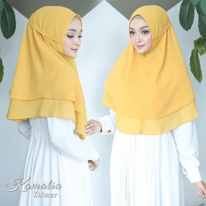Jual Hijab Jilbab Khimar Syari Terbaru Kamalia Instan 2 Layer Termurah Kab Bekasi Clothess Tokopedia