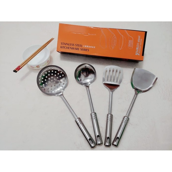 Foto Produk Peralatan dapur stainless steel set isi 4 dari dedengkot wallpaper