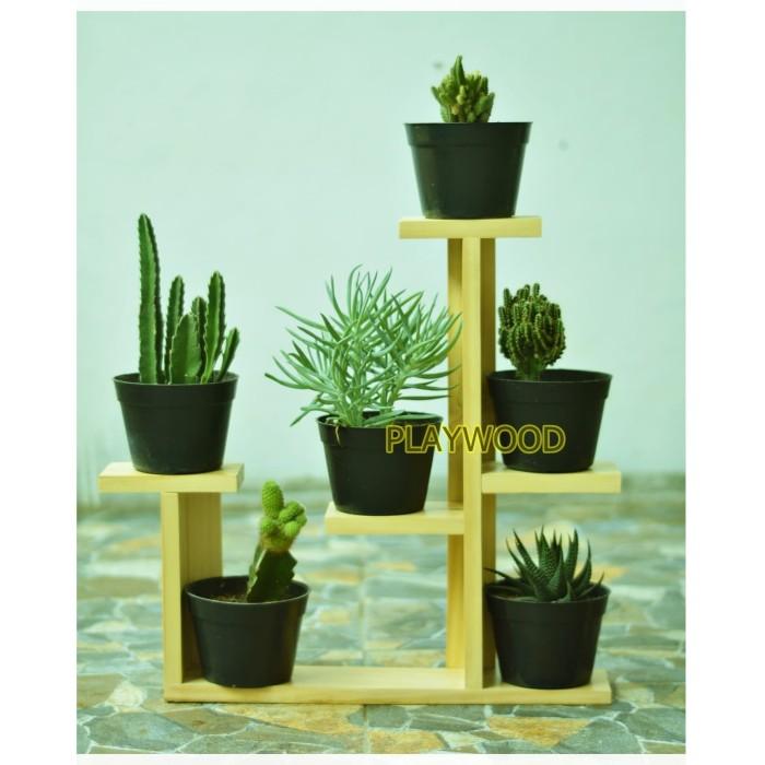 Jual Rak Kayu Tempat Bunga Kaktus Kab Bogor Play Wood Tokopedia