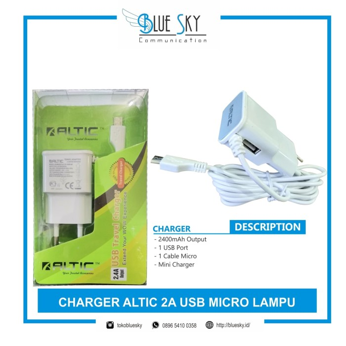Foto Produk Charger Altic 2A USB Micro Lampu dari Blue Sky Communication