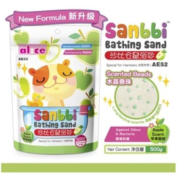 Foto Produk AE52 Alice Sanbbi Bath Sand Apple 500gr Pasir Mandi Wangi Hamster dari Hime petshop