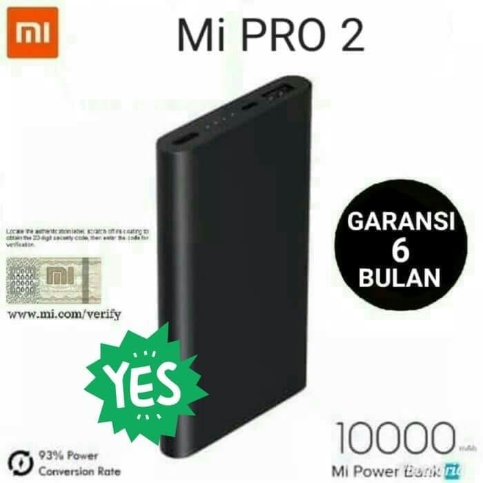 Foto Produk PowerBank Xiaomi 10000mAh Power Bank Mi Pro 2 10000 mAh - black navy dari GARDEN SHOP ACC