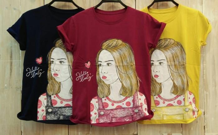 Foto Produk T-Shirt Tumblr Tumbler Tee Kaos Wanita Kualitas Bagus Size L TSW364 dari Jardin Fashion