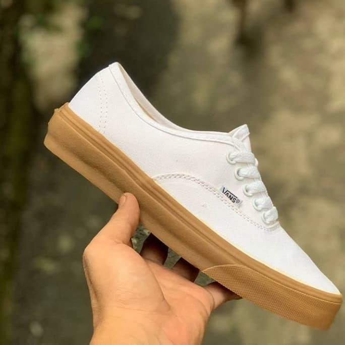 Jual Sepatu Vans Authentic White Gum