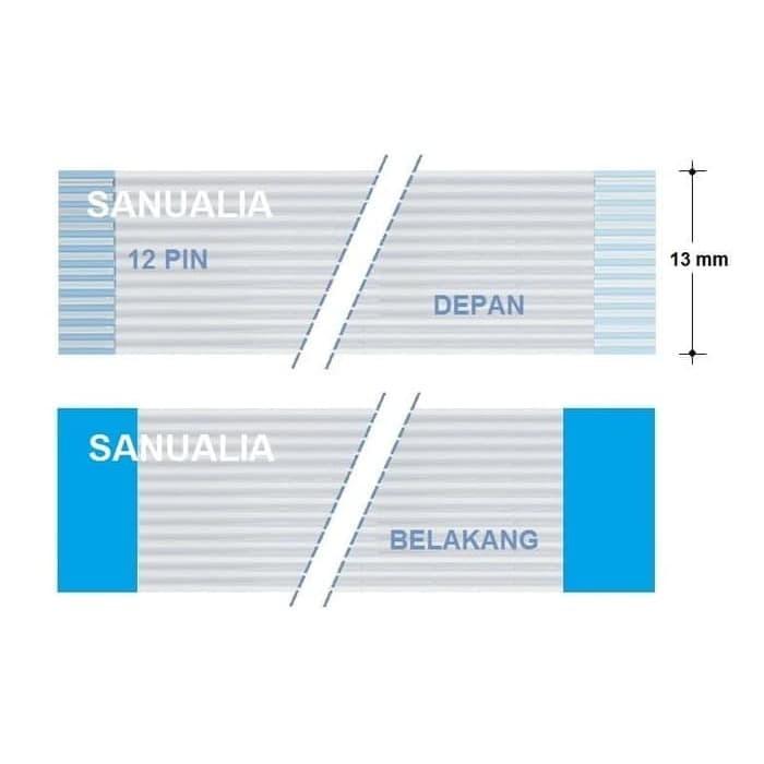 Foto Produk FFC 12 pin, Lebar 13 mm, Panjang 180 cm, Satu Muka dari sanualia
