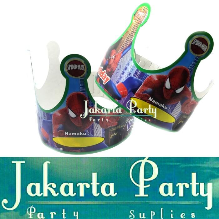 Foto Produk Topi Ultah Mahkota Spiderman / Topi Ultah Spiderman / Topi Ulang Tahun dari Jakarta Party