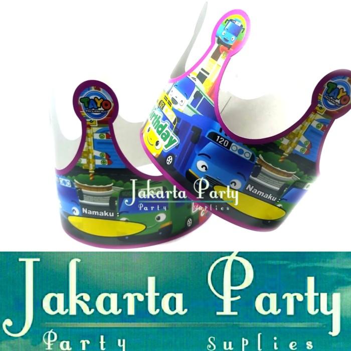 Foto Produk Topi Ultah Mahkota Tayo / Topi Ultah Tayo / Topi Ulang Tahun dari Jakarta Party