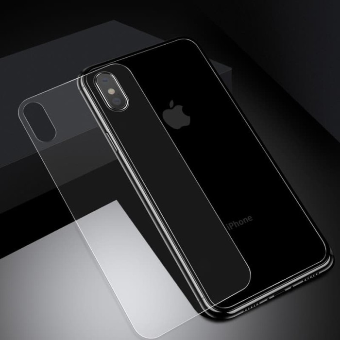 Foto Produk Tempered Glass Back Side iPhone Xs Max iPhone Xr iPhone X Xs - iPhone X Xs dari Allforgadget