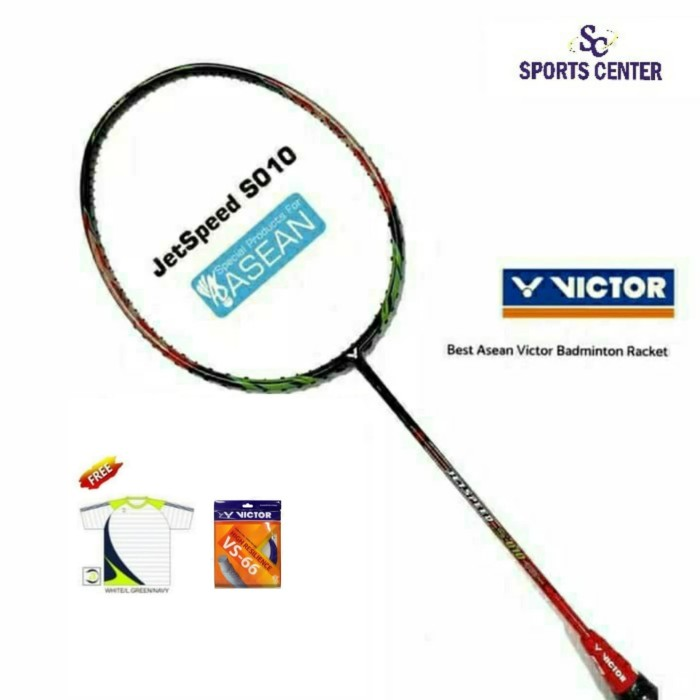 Foto Produk NEW HOT ITEM !!! Raket Badminton Victor Asean Jetspeed S 010 ( 4U G5 ) dari Sports Center