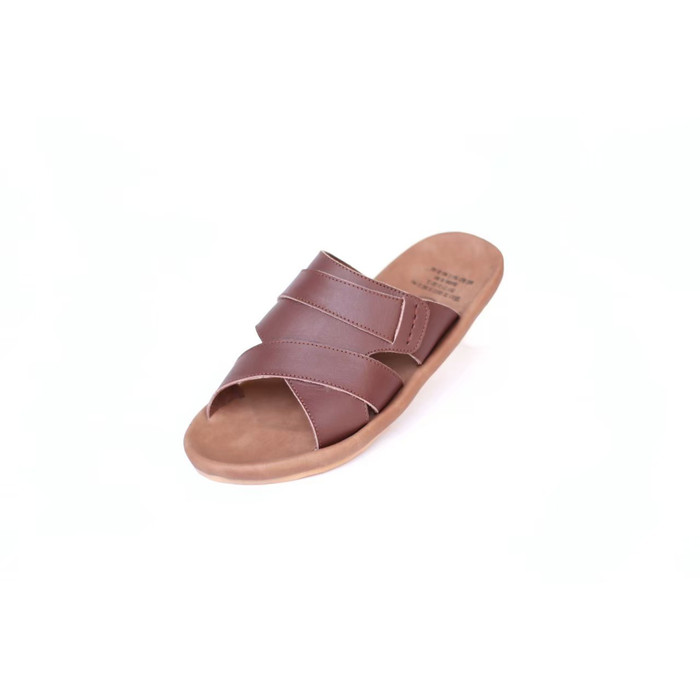 Foto Produk Sandal Kulit Original Cevany Ex Zero Pria - Sendal Slide - Cokelat, 39 dari House Shoes