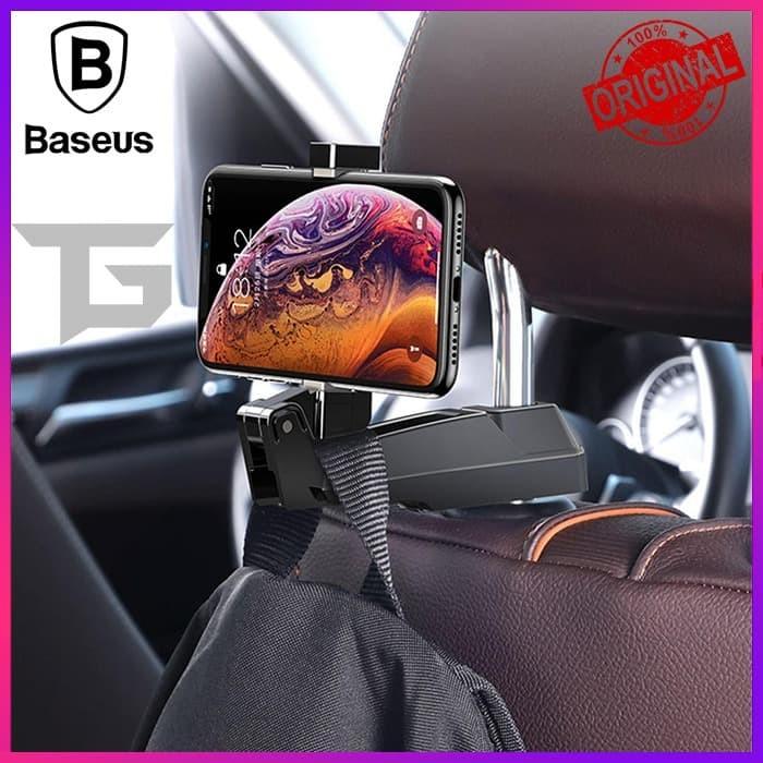 Foto Produk BASEUS BACK SEAT HOOK MOBILE PHONE HOLDER GANTUNGAN HP AKSESORIS MOBIL dari TopGear Superhero ID