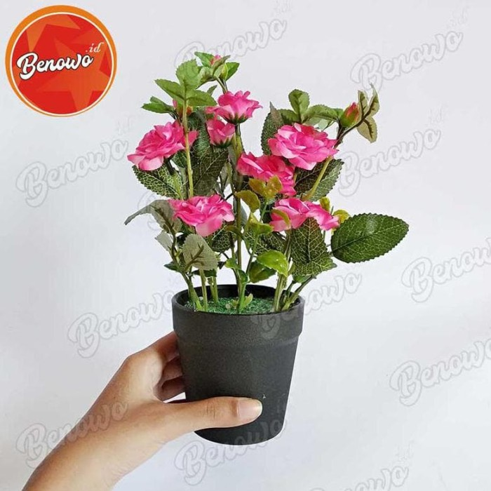 Jual Pot Bunga Mawar Plastik Artificial Vas Kecil Shabby Chic Unik Dekorasi Kota Surakarta Sponsstor Tokopedia