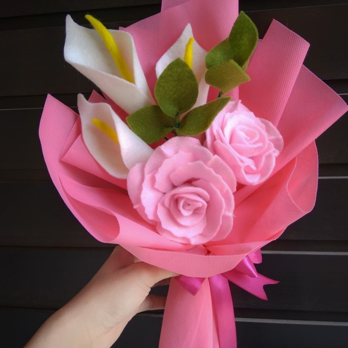 Jual Buket Bunga Sederhana Kab Blitar Aksara Shop Tokopedia
