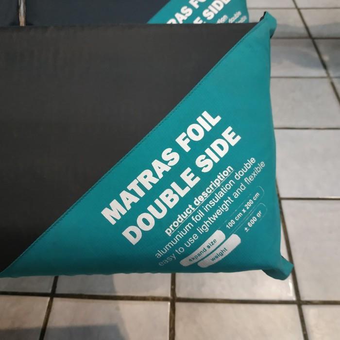 Foto Produk Matras Foil Aluminium Bolak Balik Double Side 100 x 200 cm hangat dari wijaya outdoor jatiuwung