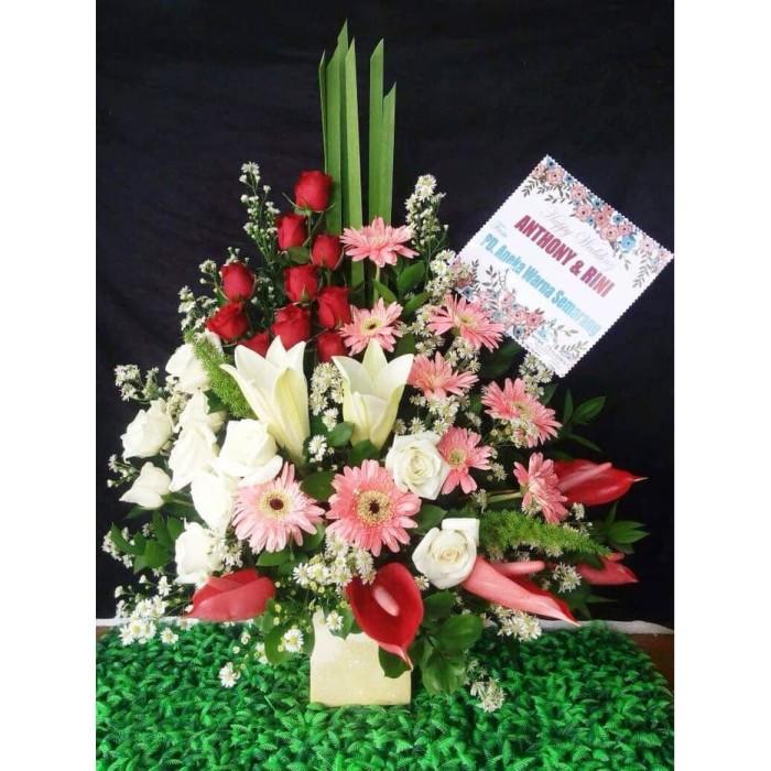 Jual Karangan Bunga Meja Free Kartu Ucapan Variasi A Jakarta Barat Sharelove Florist Gift Tokopedia