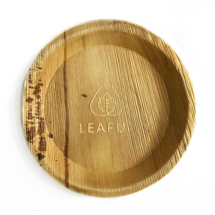Foto Produk Leafup Eco-Friendly Disposable Round Plate 25cm(10inchi), 12 piring dari LEAFUP