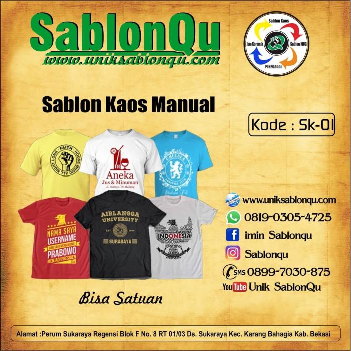 Foto Produk Sablon kaos manual dari SablonQu