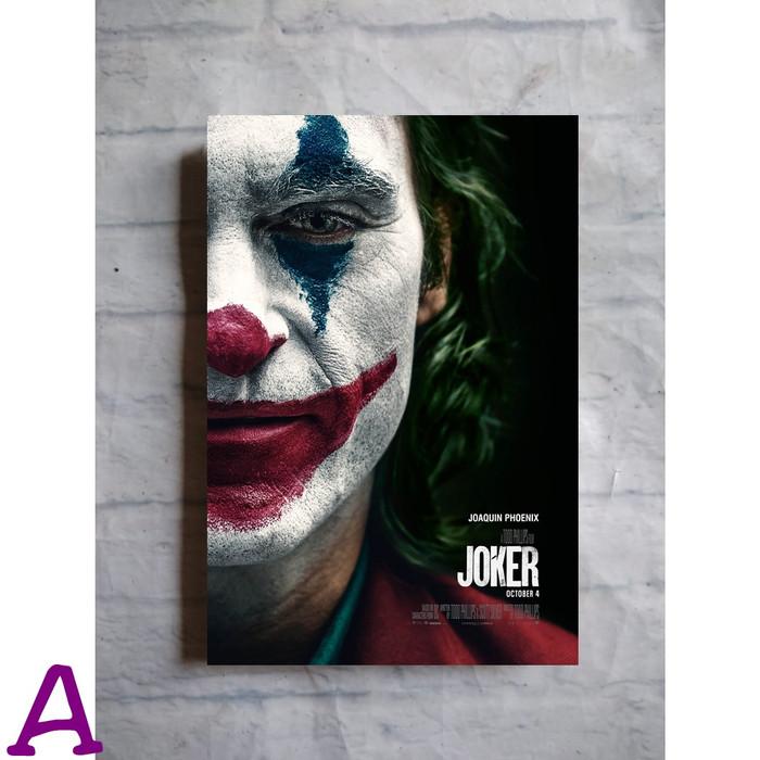 Jual Poster Kayu Hiasan Dinding Film Superhero Joker 2019 Joaquin