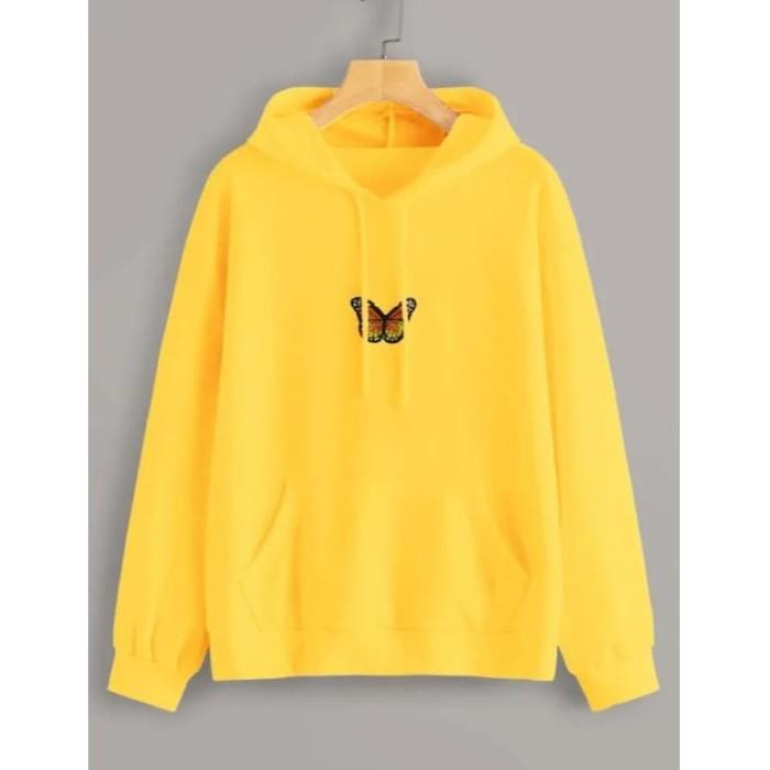 Foto Produk Butterfly Baju Kaos Hoodie Wanita Best Seller Shirt 5063 dari co5co