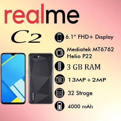 harga Realme c2 3/32 gb ram 3gb rom 32gb garansi resmi realme Tokopedia.com