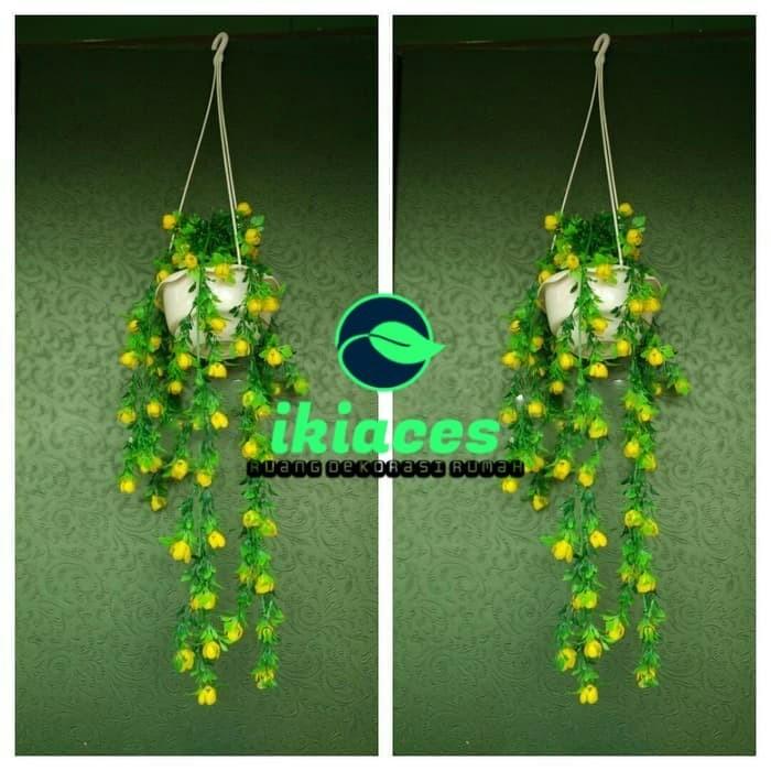Foto Produk DAUN RAMBAT BUNGA PLASTIK ARTIFISIAL ARTIFICIAL PALSU RAMBAT GANTUNG dari ikiaces