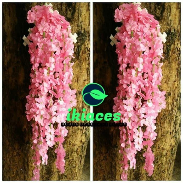 Foto Produk BUNGA DAUN HIAS DAUN JUNTAI RAMBAT Artificial Dekorasi Taman dari ikiaces